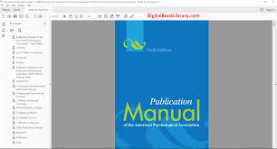 Publication Manual Of The American Psychological Association 6th Edition Pdf Version
