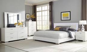 Felicity II Touch LED Modern White Bedroom Set