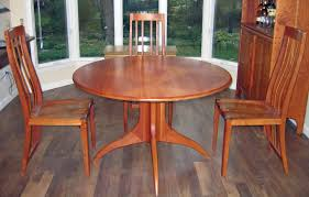 round cherry dining table incredible pretentious design all room intended for 5