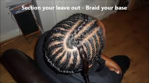 Braid Pattern For Sew In Weave With Side Part Inspiration Middle Part Sew In Weave Tutorial And Braid PatternDiva