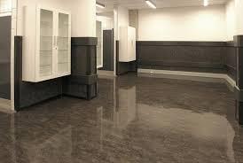 office tile flooring. Modern Office Interior With Dark Grey Granite Flooring Design Under Fluorescent Tube Lights: Full Tile