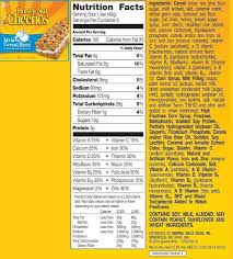 gallery for gt food label for honey nut cheerios ag food regarding