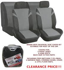 universal car seat covers in silver