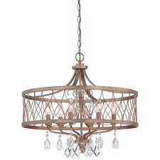 west liberty olympus gold 24 inch six light drum pendant
