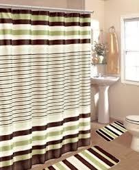 Buy 15PC SAGE BROWN STRIPE BATHROOM BATH MATS SET RUG CARPET SHOWER