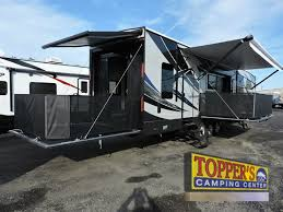 forest river vengeance fifth wheel toy hauler side patio