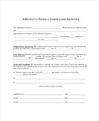 lease renewal template 5 free word