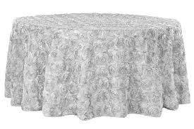 wedding rosette satin 120 round tablecloth silver