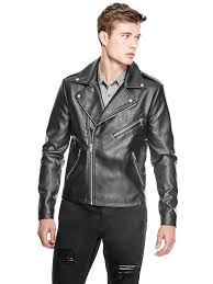 guess factory men s williamsburg biker jacket