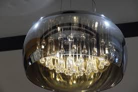 light glass ceiling lamp lighting decorative light fixture beautiful chandelier attractive incandescent light bulb multiple reflections