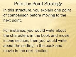 comparison contrast writing comparison contrast writing fits into  11 point by point strategy in this structure