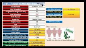 Weight Loss And Inches Tracker Free Diet Weight Loss Excel Spreadsheet Youtube