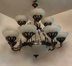 12 lamp antique design chandelier