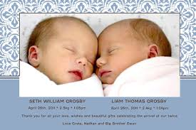 twin birth announcements photo cards birth announcements and baby thank yourphoto cards for twin boys