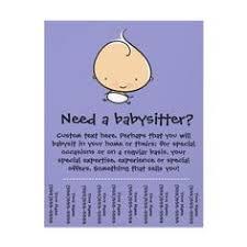Babysitting Ads 24 Best Babysitting Flyers Images Babysitting Flyers Fundraising