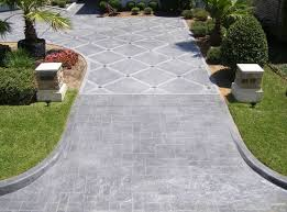 stamped concrete overlay. BOSS Resurfacing Stamped Driveway Concrete Overlay -