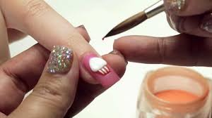 3-D Cupcake Nail Art Design - YouTube