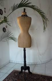 dress makers form beige covered wasp waist mannequin ca 1905 www antique gown com