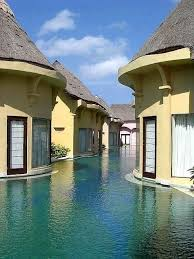 Swim to your room at this resort in Bali, need we say more? #
