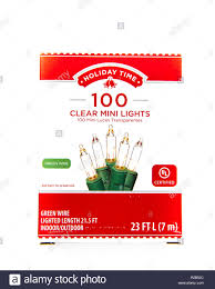 Holiday Time 20 Clear Mini Lights Christmas Lights Cut Out Stock Images Pictures Alamy