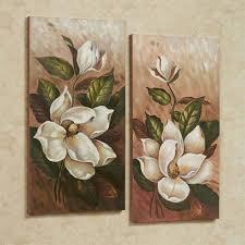 magnolia canvas wall art