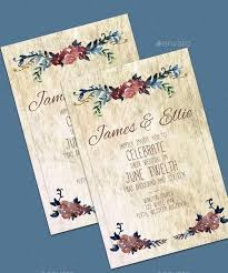 Wedding Card Template Photoshop Librarianinlawland Com
