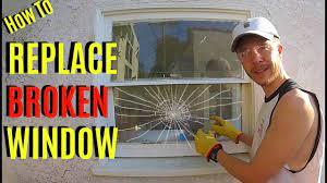 how to replace broken window pane glass