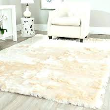 white fur rug large