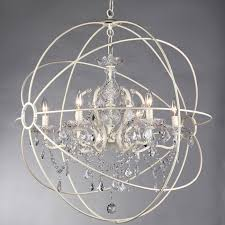 abstract crystal chandelier with sphere shape