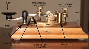 Amateur radio morse code straight key