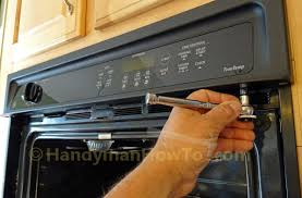 how to replace a built in oven fan ge built in oven fan replacement remove the control panel screws