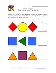 Patterns For Preschool Interesting Easy Pattern Worksheets All Kids Network