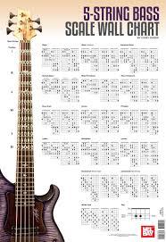 5 String Bass Scale Wall Chart Corey Dozier 9780786685684