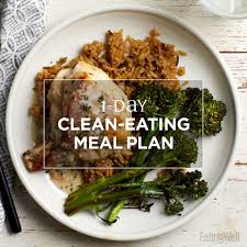 1 Day Clean Eating Meal Plan Eatingwell