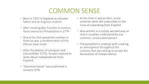 thomas paine presentation common sense