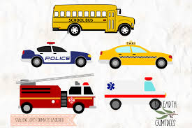 Bus | free svg image in public domain. Free School Bus Police Car Taxi Fire Truck Ambulance Svg Dxf Eps Pdf Png Crafter File