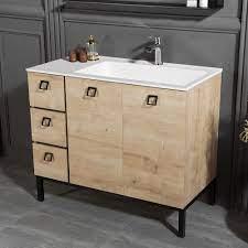 39 5 Inch Oak Color Bathroom Vanities For Sale