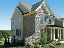 Natural stone home exterior