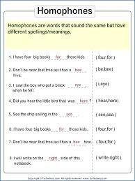 Homograph Quiz Worksheet Free Printable Worksheets Homonyms ...