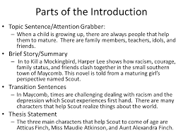 to kill a mockingbird literary analysis essay ppt video online  9 parts of the introduction