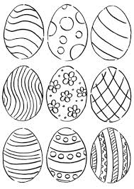 Easter Egg Coloring Pages Eggs Free