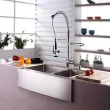 kitchen sink for farmhouse kraus khf203 33 stainless steel 32 7 8 double basin 16 gauge kraus 36 inch