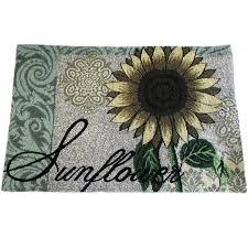 sunflower kitchen set home impressions tapestry set of 4 bold sunflower sunflower kitchen rug sets