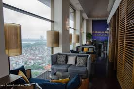 Living Room Bar And Terrace Summit Lounge Rooftop Bar Terrace At Pan Pacific Hanoi Asia