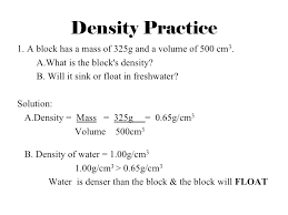 density equation example. mrb-science.wikispaces.com density equation example f