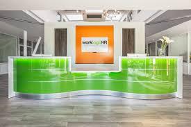 Modern Office Reception Backdrop Design