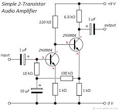 transistor amplifiers wiring diagram autovehicle simple 2 transistor audio amplifier