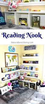 How to Set Up a Reading Nook Kids Love - Plus DIY Rain Gutter Bookshelf