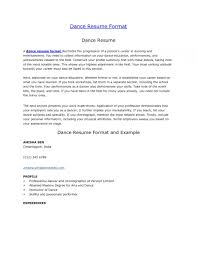 Dance Resume Example Sample Dancer Cover Letter 8 Examples 12 And