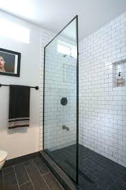 grey beveled subway tile white subway tile bathroom shower bathroom industrial bathroom industrial with oil rubbed bronze fixtures white subway beveled